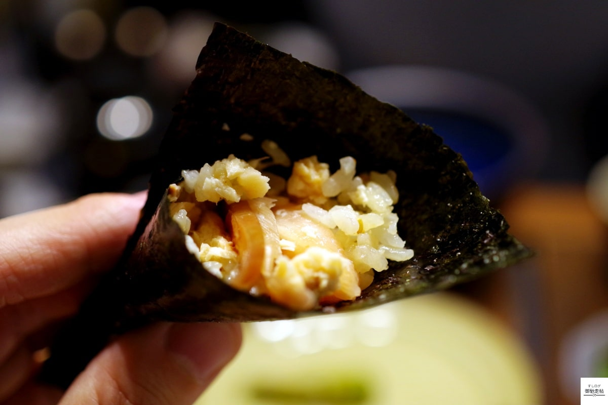 ビワマスの手巻き寿司