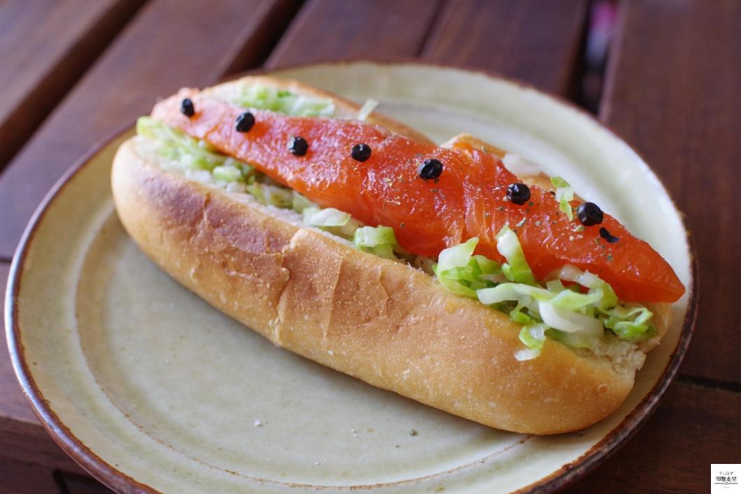 鱒のサンドイッチ