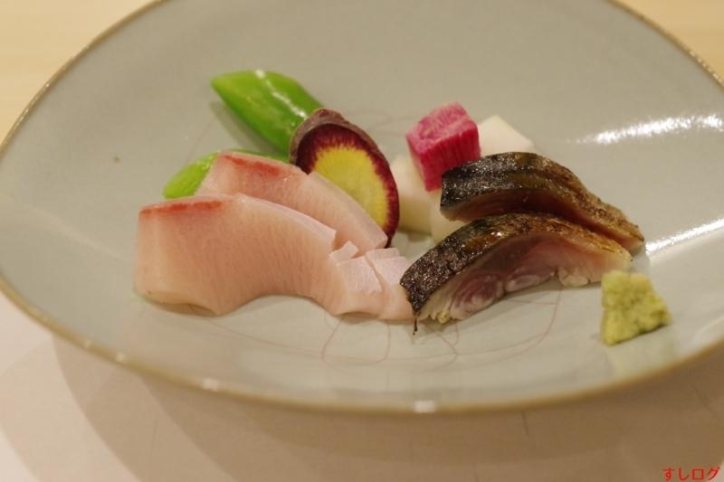 鮨すずか寒鰤と炙り〆鯖
