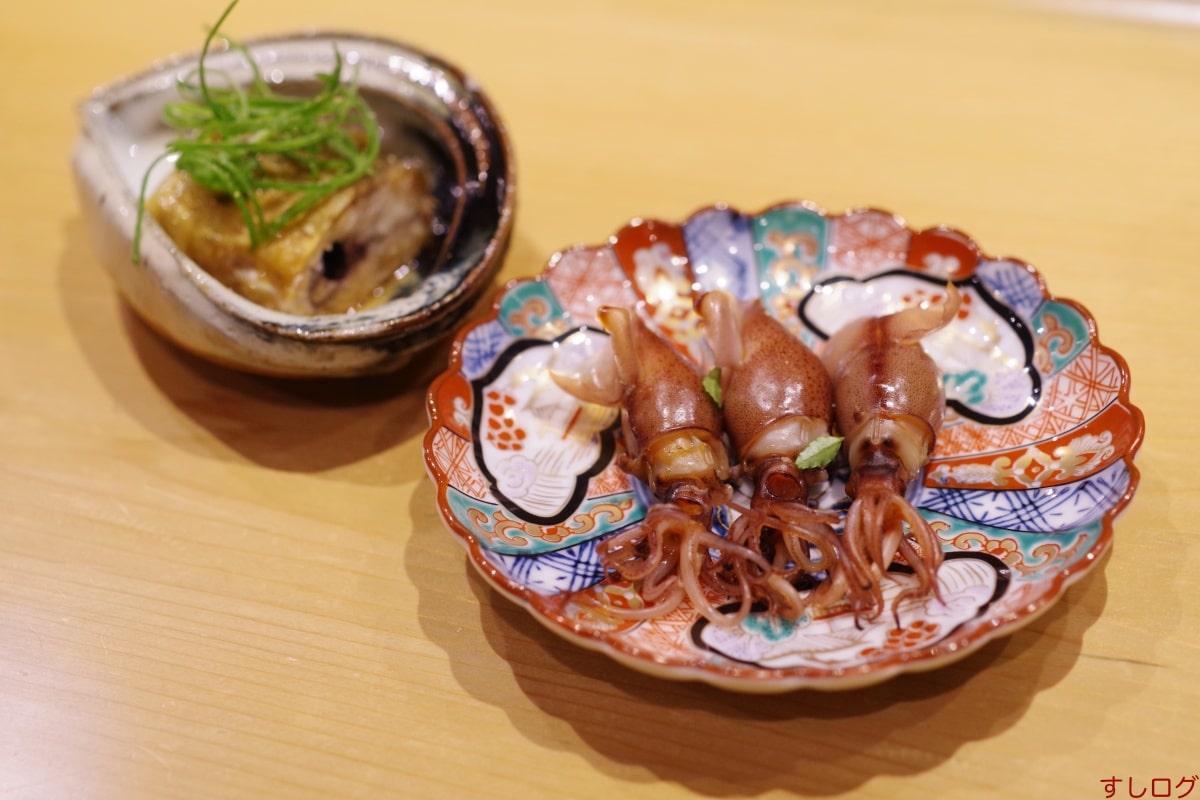 一喜ホタルイカの味噌漬け、鮎の甘露煮