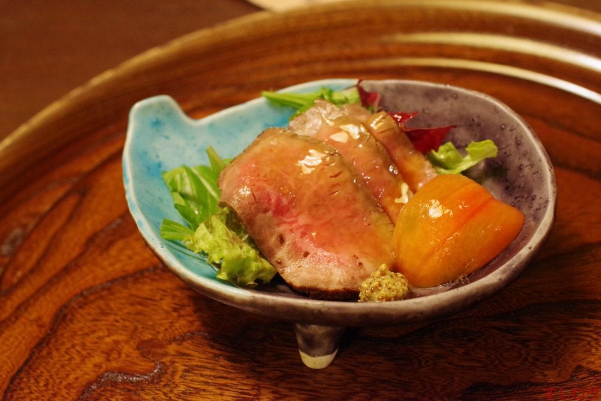 たん熊冷もの:コールドビーフ、高原野菜、アメ―ラトマト