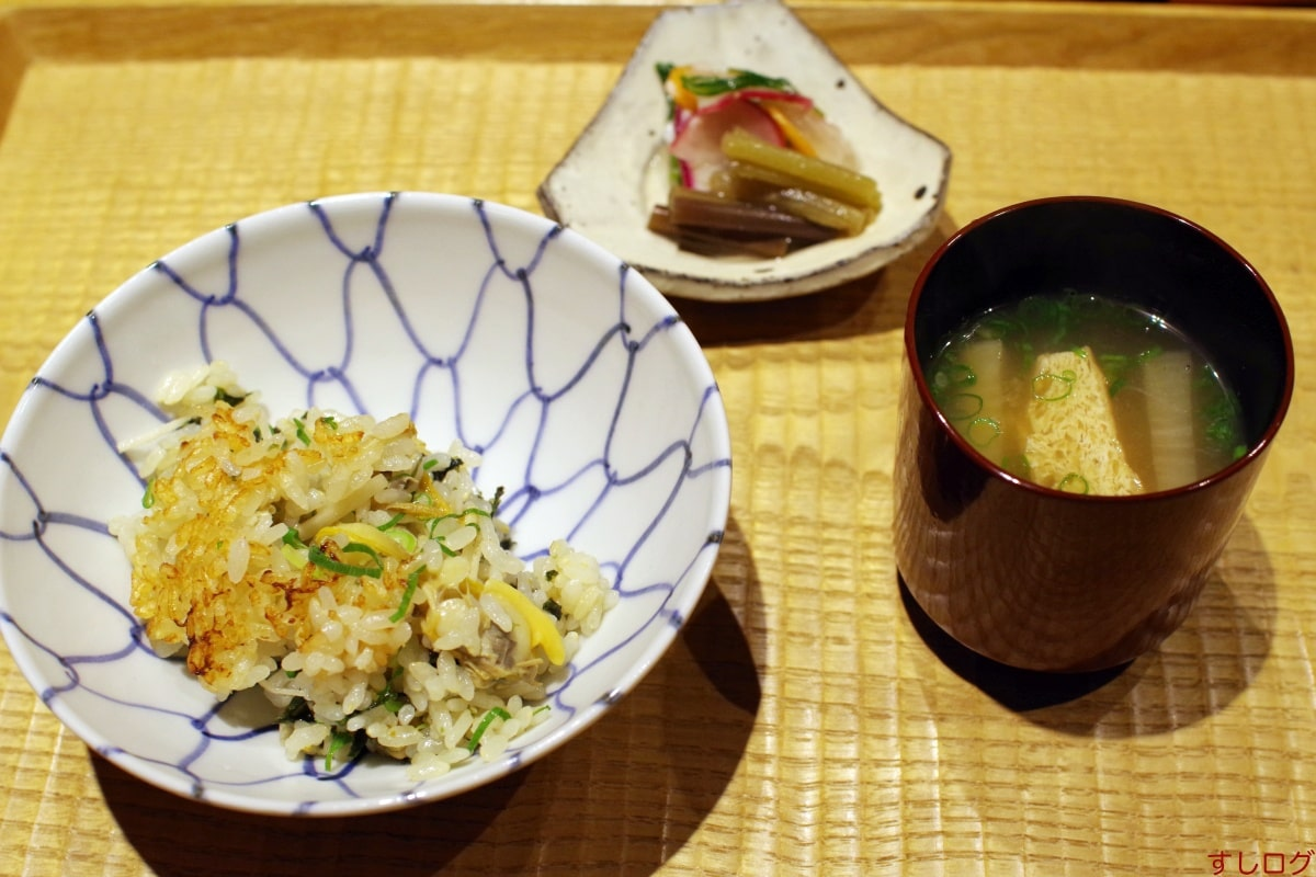 悠然いしおか浅蜊ご飯、留め椀、香の物