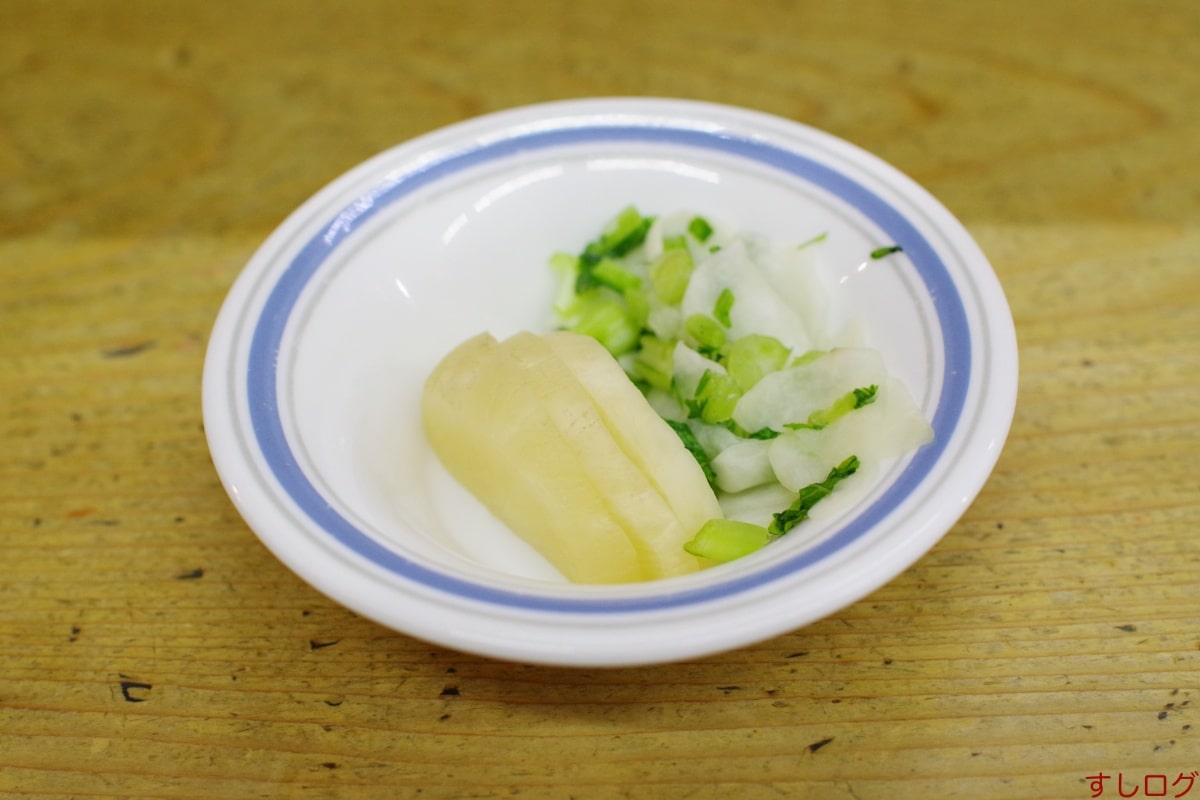 天ぷら中山香の物