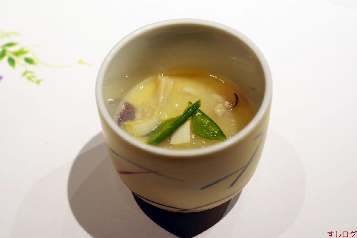 蛤餡の茶碗蒸し