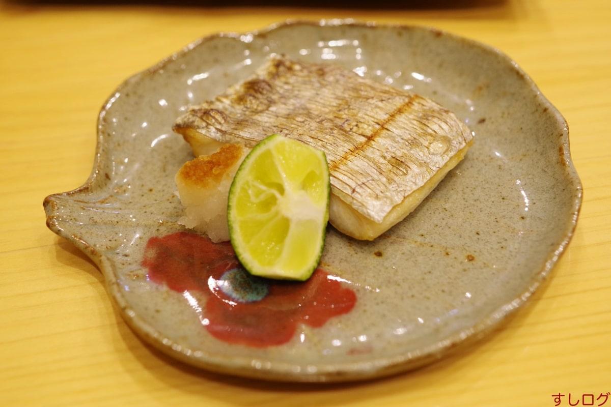 鮨北條太刀魚の焼きもの